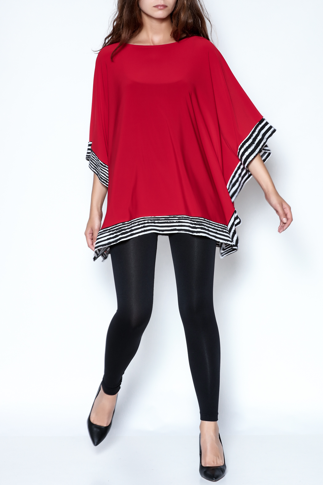 Talk of the Walk Stripe Trim Top - Front Full Image