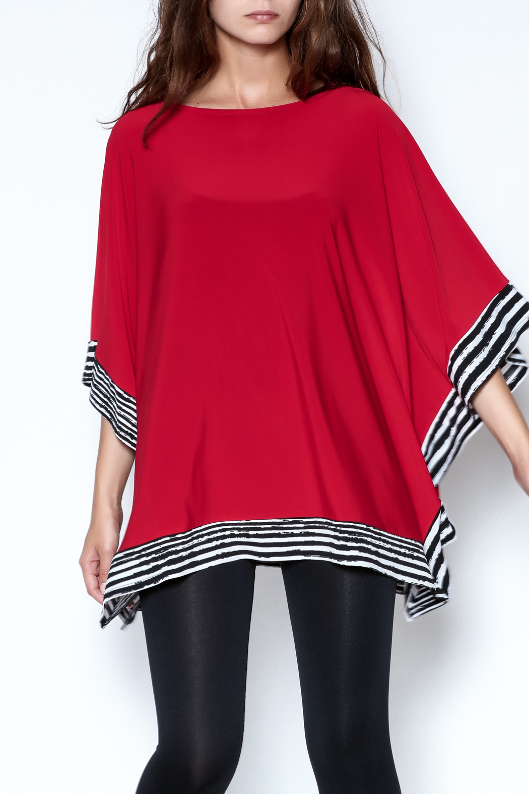 Talk of the Walk Stripe Trim Top - Main Image
