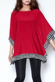 Talk of the Walk Stripe Trim Top - Front cropped