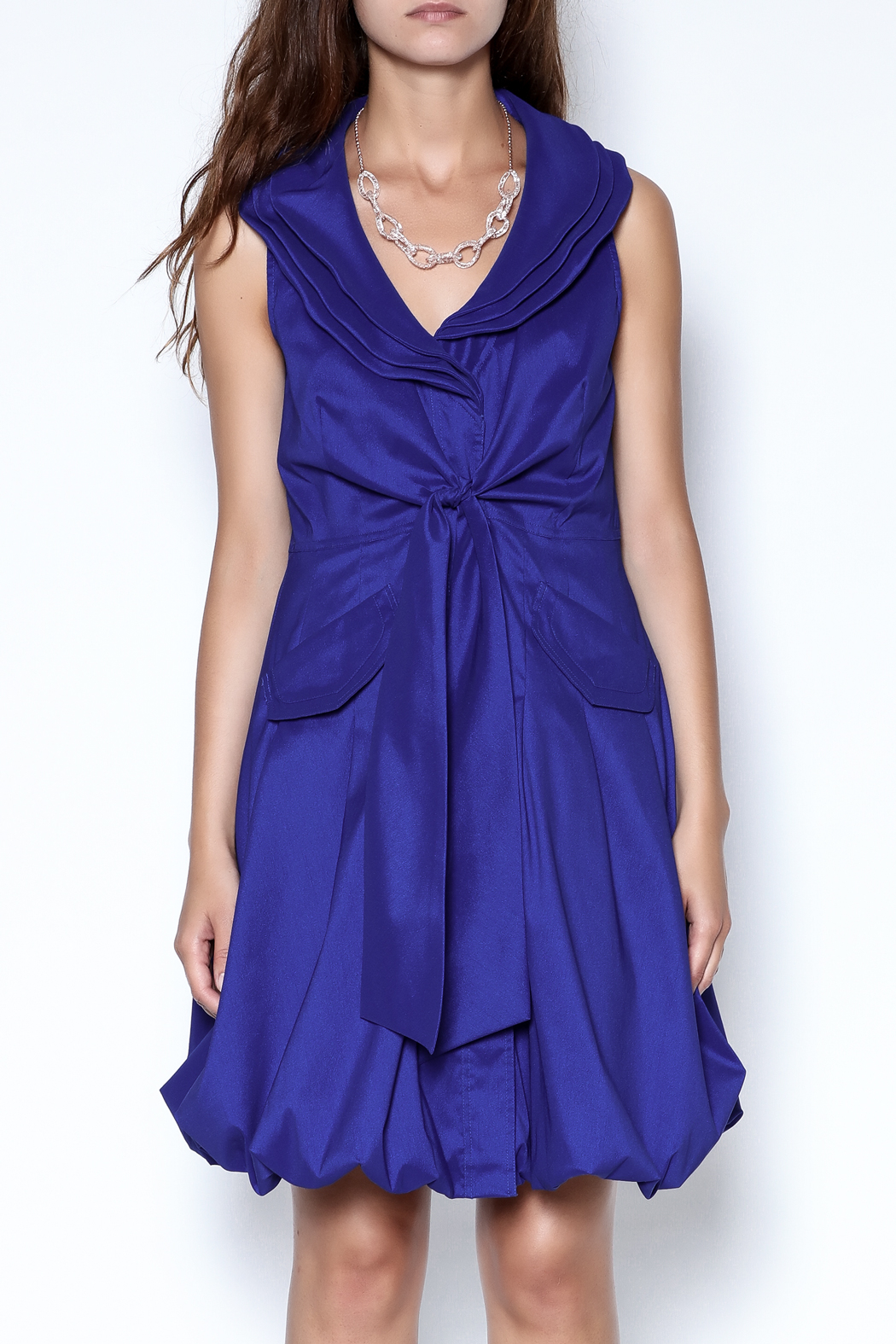 f5e64b06cc8 Talk of the Walk Cobalt Blue Tie Dress from New Jersey — Shoptiques