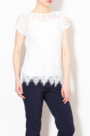 Talk of the Walk The Lace Summer Top - Product Mini Image