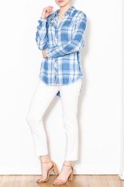 Talk of the Walk The Plaid Button Down Top - Product Mini Image
