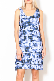 Talk of the Walk Tie-Dye Ruffle Dress - Front cropped