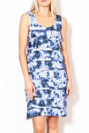 Talk of the Walk Tie-Dye Ruffle Dress - Front full body