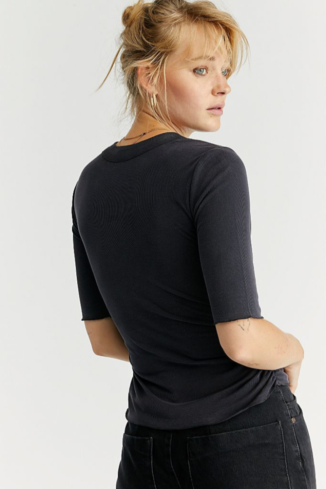Free People  Talk To Me Tee - Front Full Image