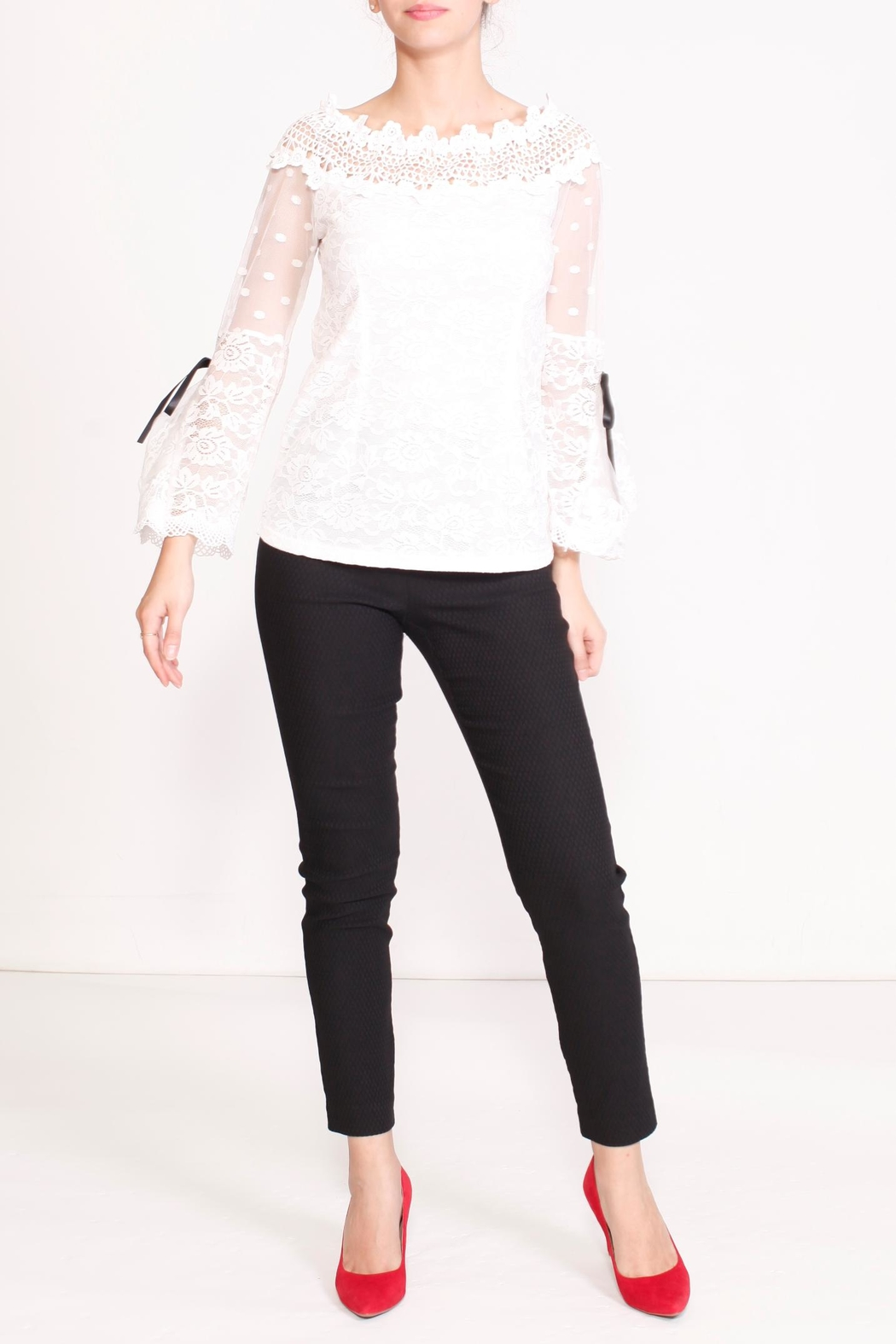 Talk of the Walk Floral Lace Blouse - Main Image
