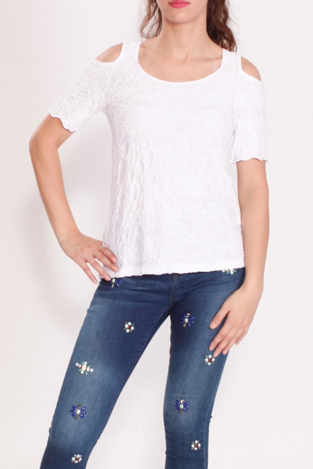 Talk of the Walk Multi Pleated Top - Front Full Image