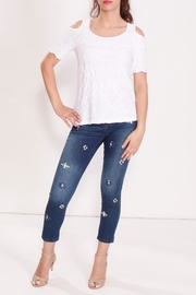 Talk of the Walk Multi Pleated Top - Front cropped