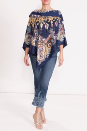 Talk of the Walk Paisley Scarf Poncho - Front cropped