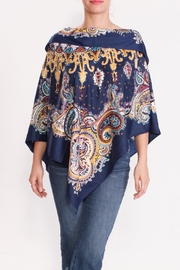 Talk of the Walk Paisley Scarf Poncho - Front full body