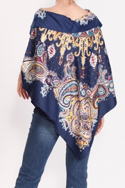Talk of the Walk Paisley Scarf Poncho - Back cropped