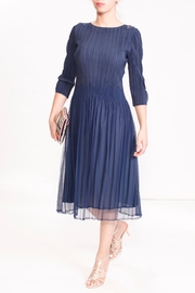 Talk of the Walk Scalloped Pleated Dress - Product Mini Image