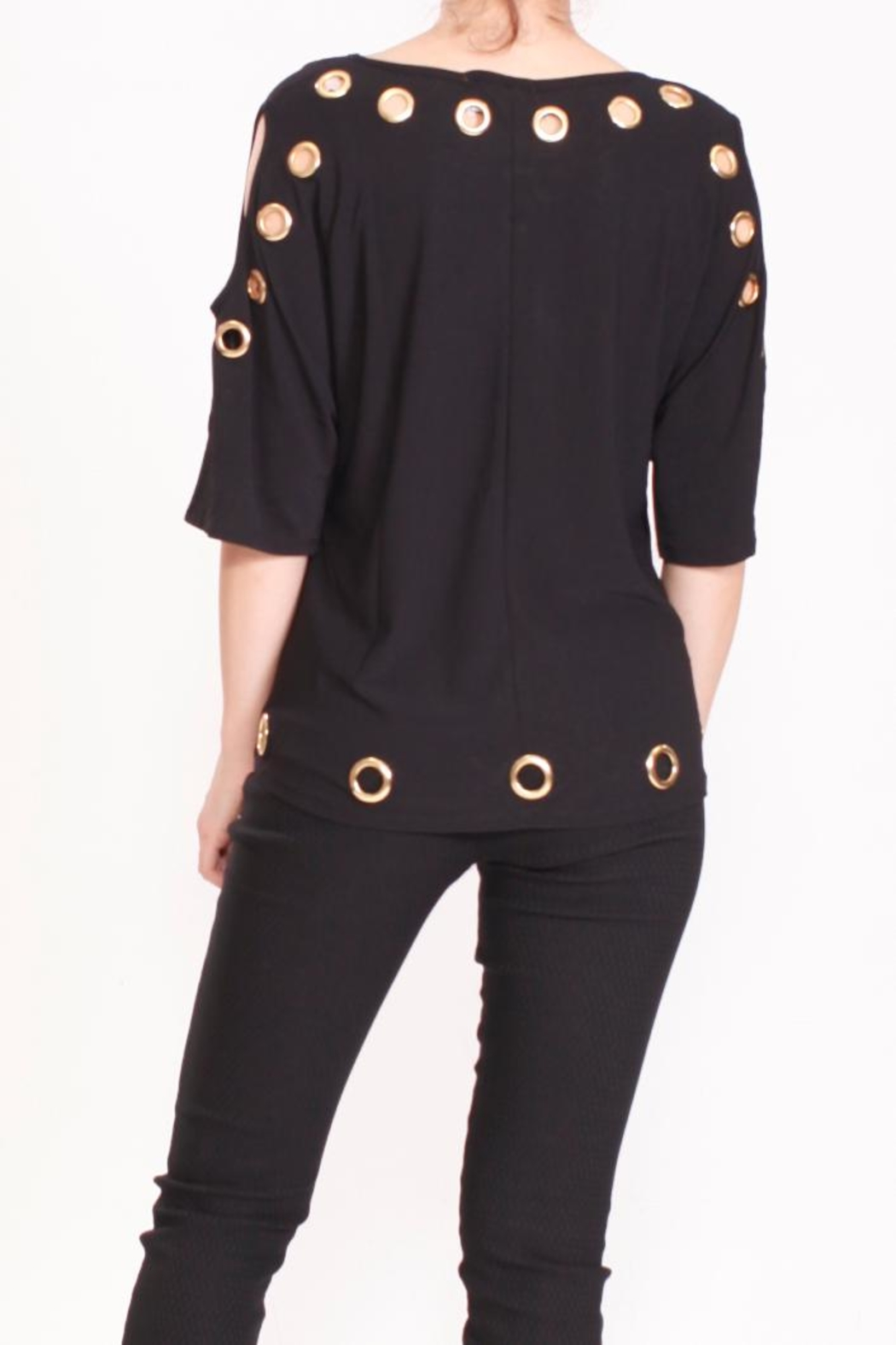 Talk of the Walk The Grommet Top - Back Cropped Image