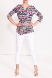 Talk of the Walk Tribal Snap Tee - Front cropped