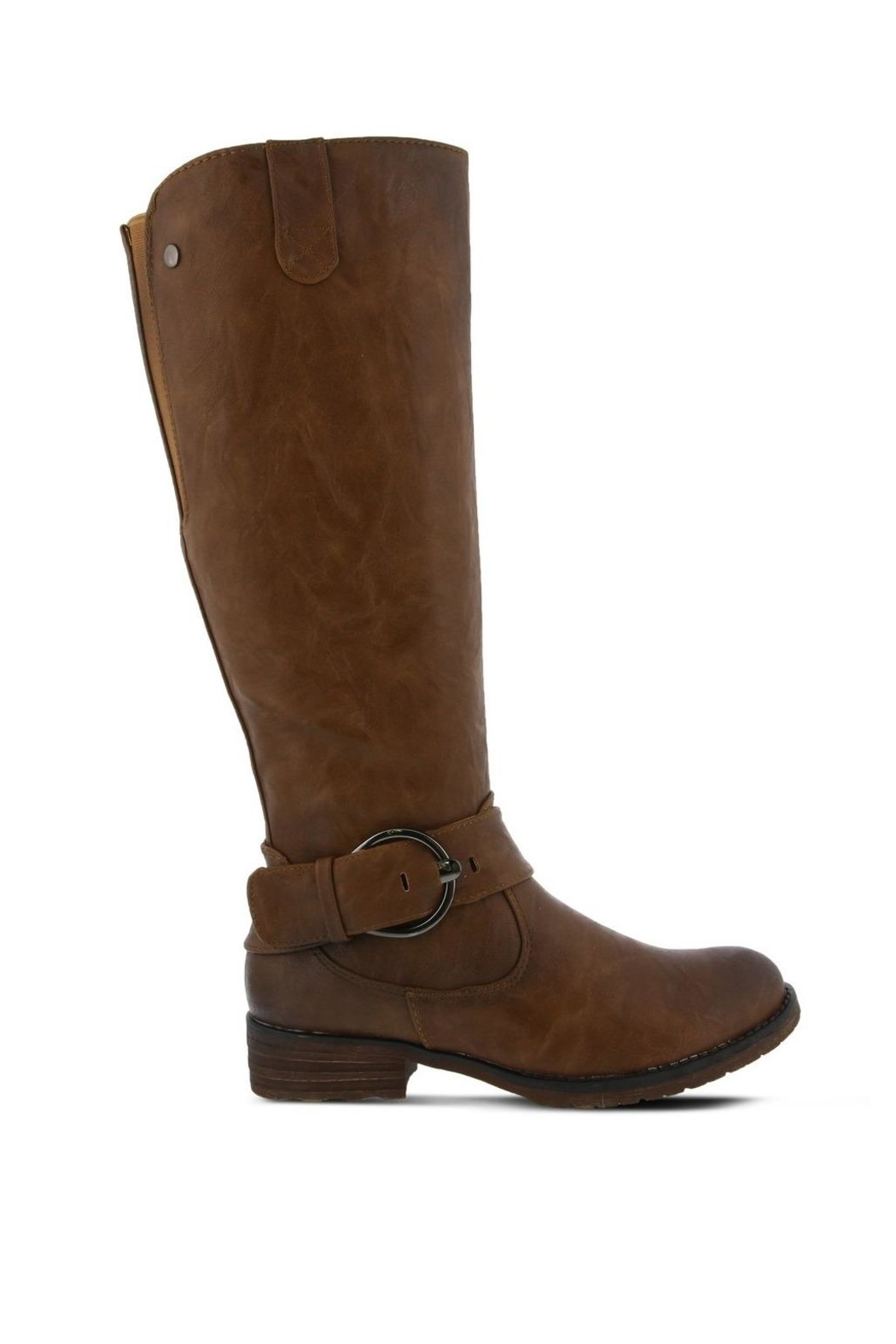 Spring Footwear Tall Buckle Boot - Front Full Image