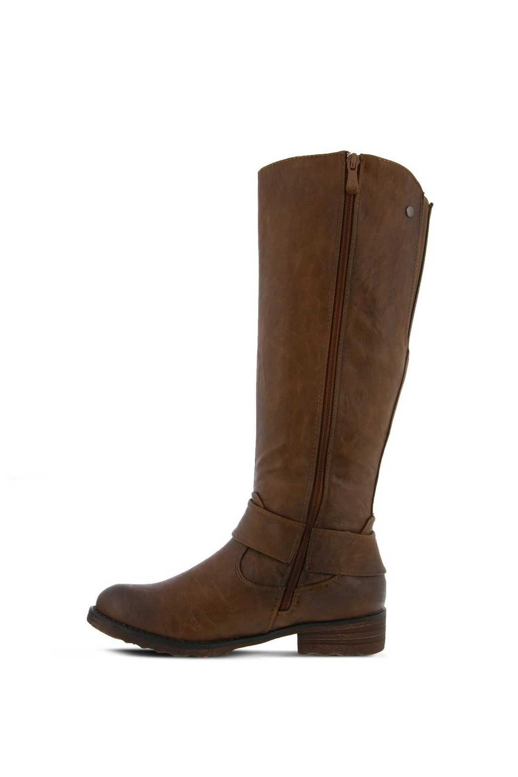 Spring Footwear Tall Buckle Boot - Back Cropped Image