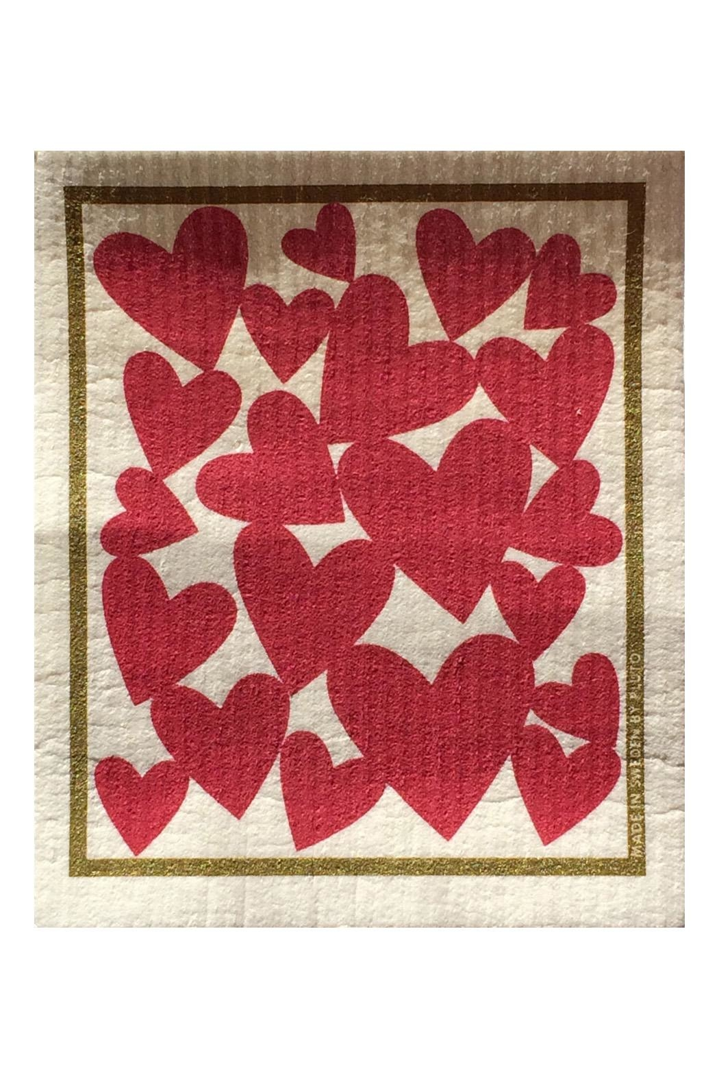 Talla Imports Swedish Washtowel Hearts - Main Image