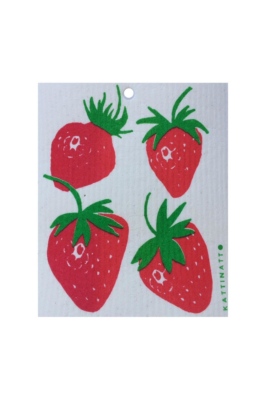 Talla Imports Swedish Strawberries Dishcloth - Front Cropped Image