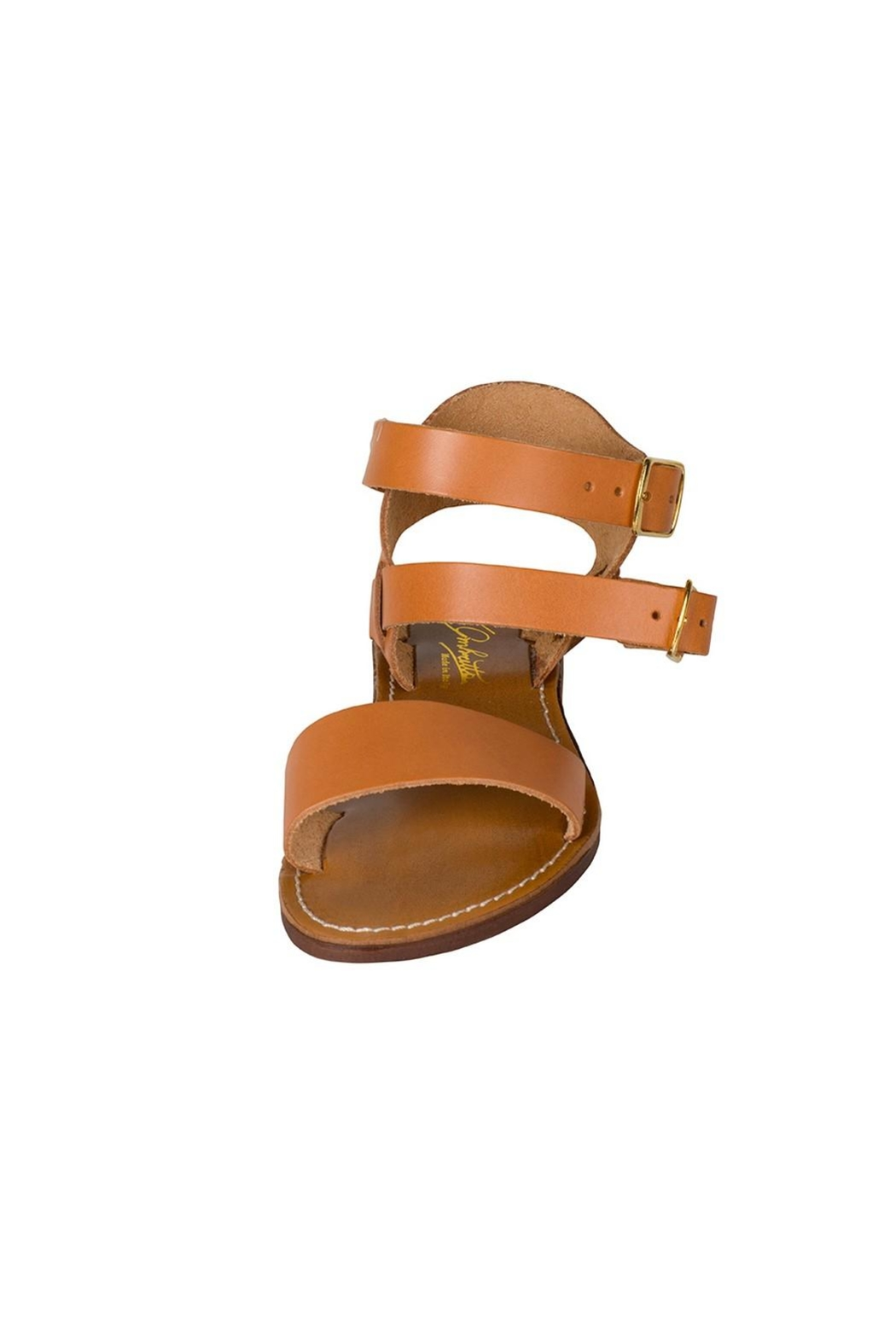 Lady Doc Tan Ankle-Strap Sandal - Front Full Image