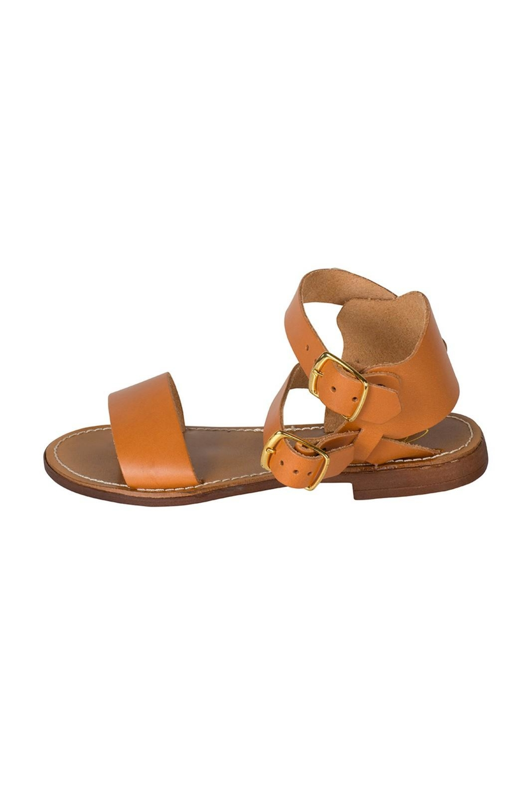 Lady Doc Tan Ankle-Strap Sandal - Front Cropped Image