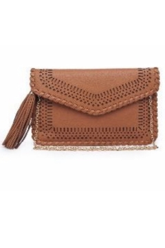 Street Level Tan Braided Tassel Clutch - Alternate List Image