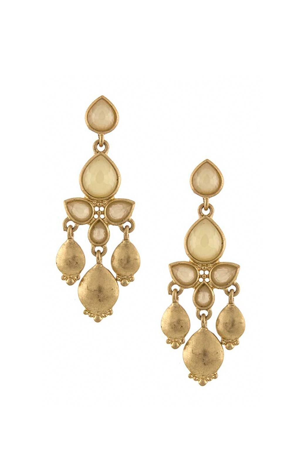 Wild Lilies Jewelry  Tan Chandelier Earrings - Front Cropped Image