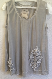 Vintage Brand Tan embellished tunic - Product Mini Image