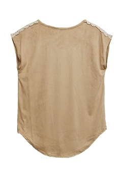 Twenty Second Tan Faux-Suede Top - Alternate List Image