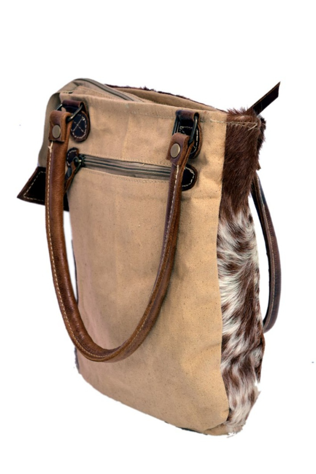 Bhrayna Tan Hairon Bag - Side Cropped Image