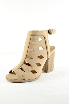 Imagine That Tan Heeled Booties - Product List Image