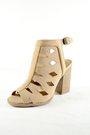 Imagine That Tan Heeled Booties - Product Mini Image
