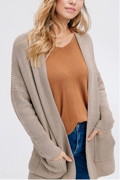Shoptiques Product: Tan Knit Cardi