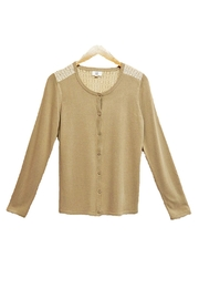 Yal NY Tan Lace Sweater - Product Mini Image