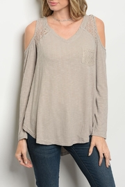 She + Sky Tan Lace Top - Product Mini Image