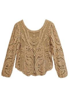 AZI Tan Lace Top - Product List Image