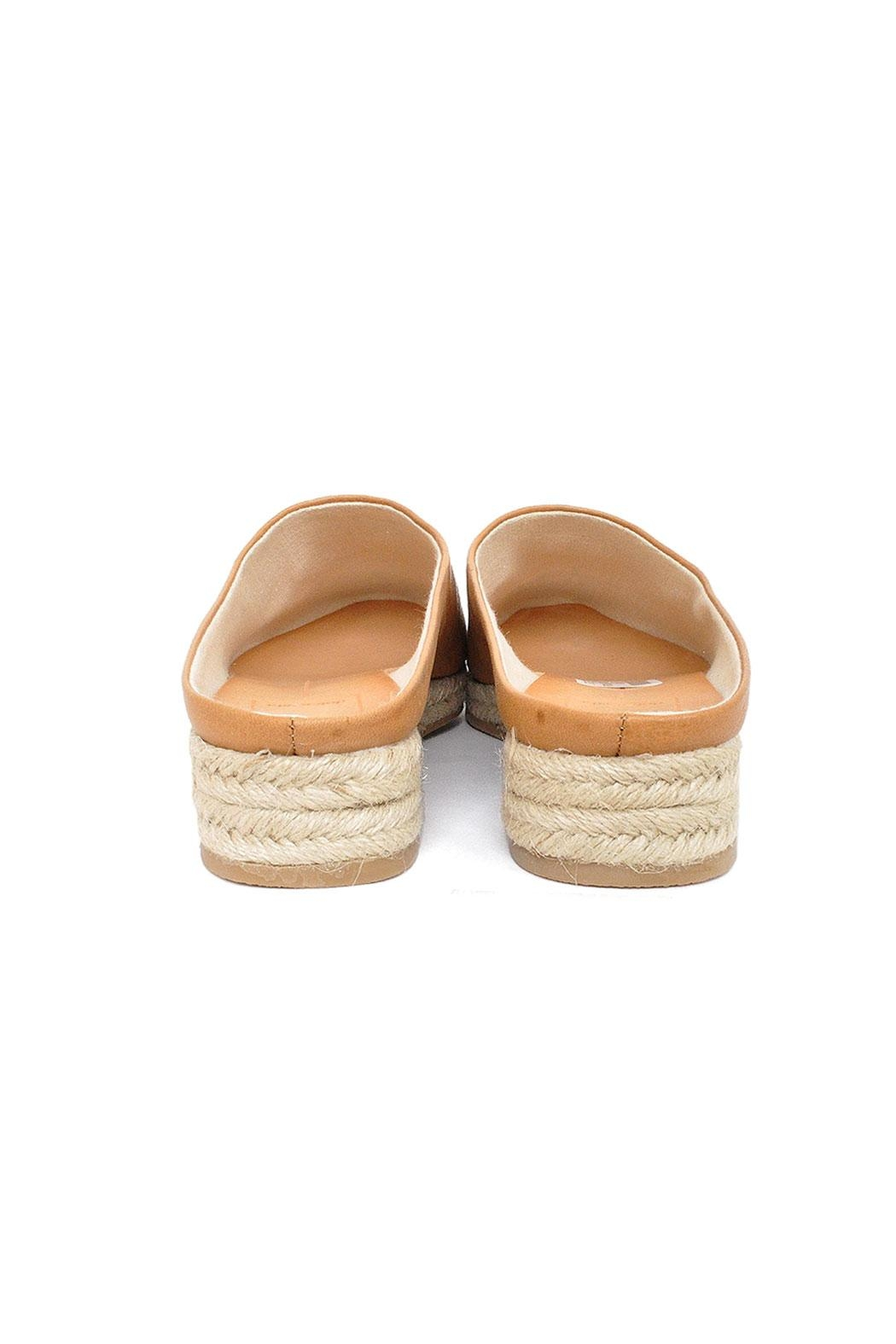 Dolce Vita Tan Leather Espadrilles - Back Cropped Image