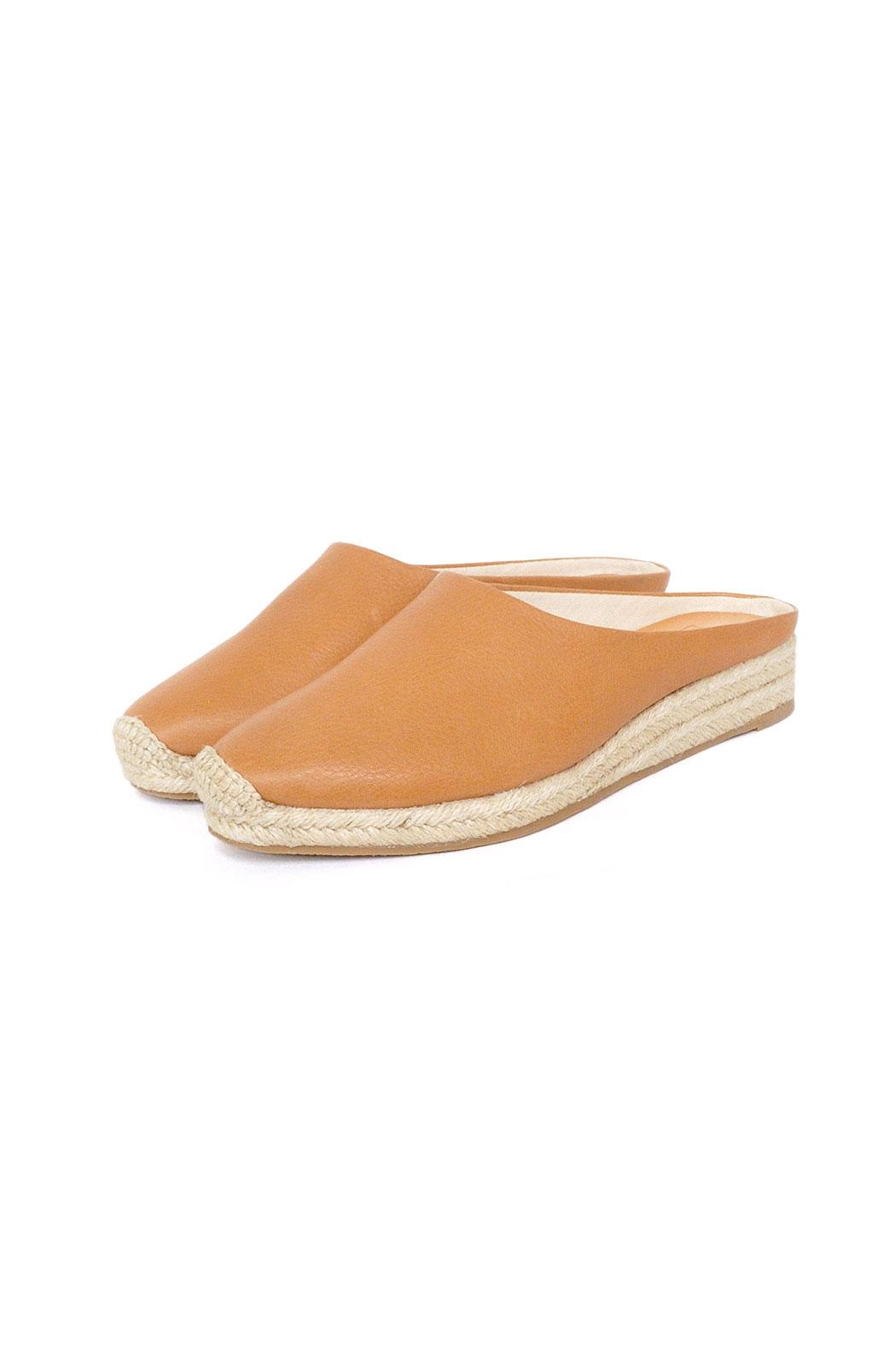 Dolce Vita Tan Leather Espadrilles - Front Full Image