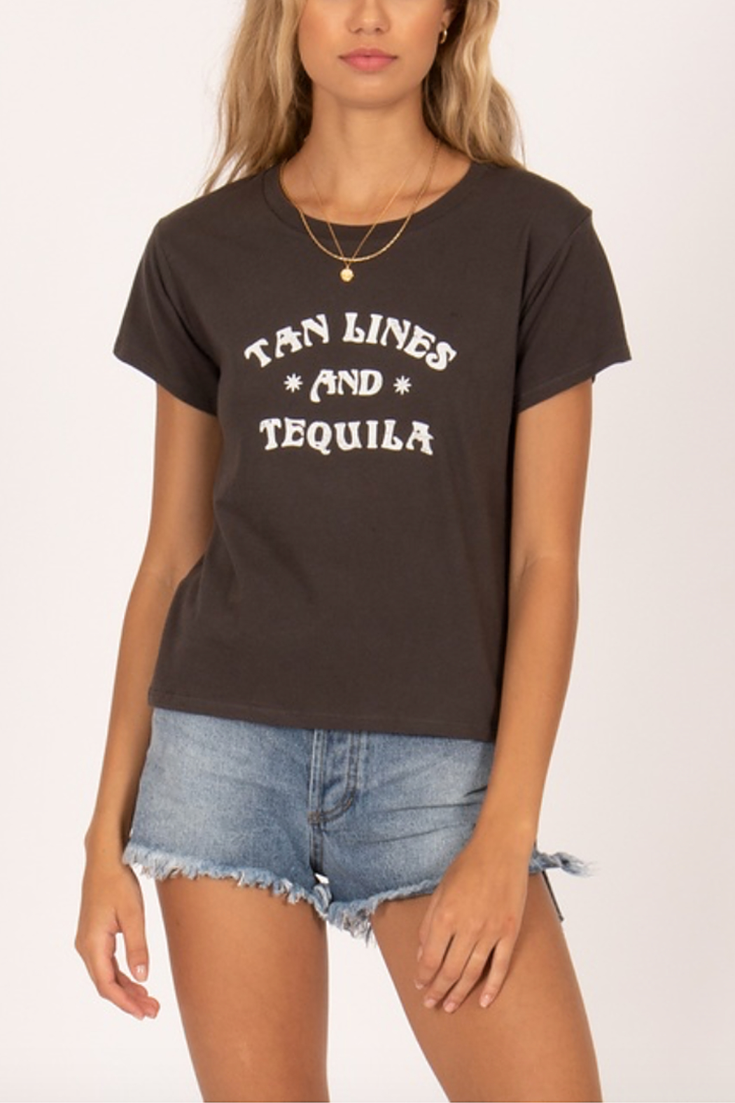 AMUSE SOCIETY Tan Lines & Tequila Graphic Tee - Front Cropped Image