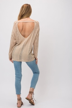 Back in Love Tan Open back sweater - Product List Image