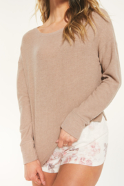 z supply Tan Ribbed Long Sleeve Crop - Product Mini Image