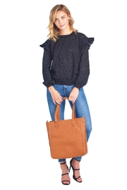 Two Neighbors Tan Tote Bag - Front full body
