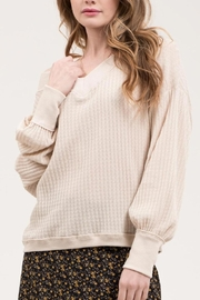 Blu Pepper Tan Waffle Sweater - Product Mini Image