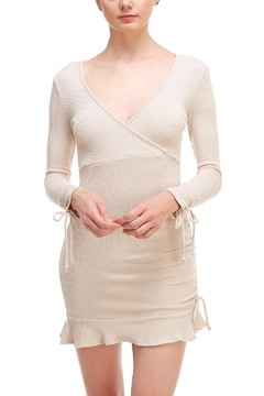 Shoptiques Product: Tan Wrap Dress