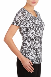Tan Jay Black Scroll Top - Front full body