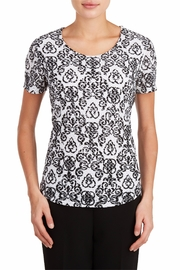 Tan Jay Black Scroll Top - Front cropped