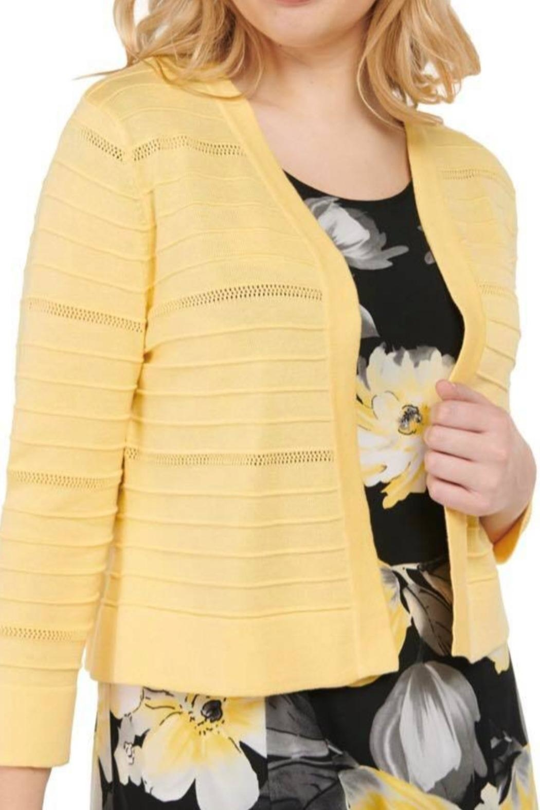 Tan Jay Butter Yellowcardigan - Front Cropped Image