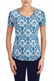 Tan Jay Mallard Scroll Top - Product Mini Image