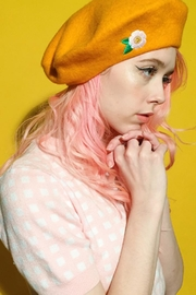 Darling Tangerine Beret - Front cropped