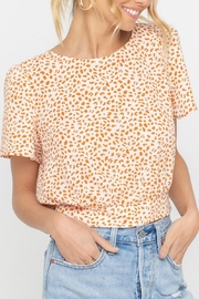 Lush Clothing  Tangerine Dotted Back-Tie-Top - Front cropped