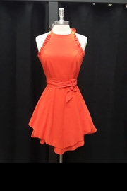 Selfie Leslie Tangerine Mini Dress - Product Mini Image